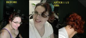 heatless curls with bobbypins only :) video soon