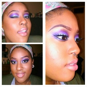 A sweet sweet purple spring look using the Urban Decay Electric palette
