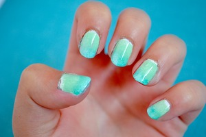 Check out this video to see how I did them!  http://www.beautylish.com/v/ycyzjz/easy-ombre-gradient-nails-tutorial