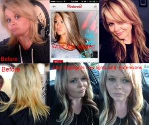 EXTENSIONS, HAIR COLOR, HIGHLIGHTS AND HAIRCUTS BY CHRISTY FARABAUGH