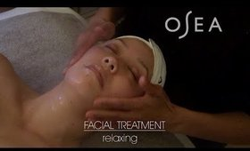 relaxing facial treatment with osea | Serein Wu