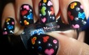 Easy Colorful Hearts Nails! ❤ / Diseño de corazones coloridos