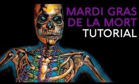 Mardi Gras De La Mort | Skeleton Illusion Body Paint Tutorial