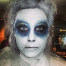 ghost special effects makeup (using basic eyeshadow)