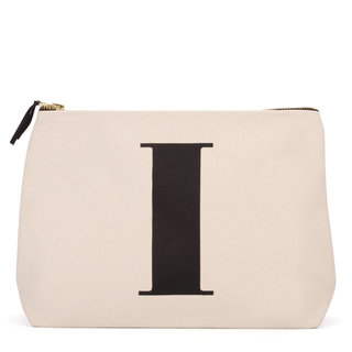 Natural Wash Bag Letter I