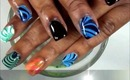 Water Marble Howto on Acrylic Nails
