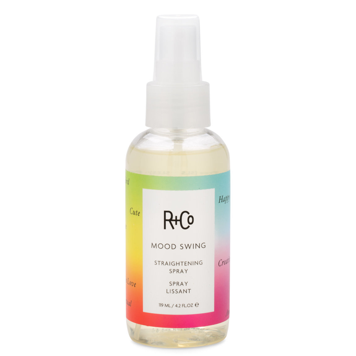 R+Co Mood Swing Straightening Spray product smear.