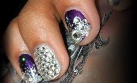 Glitter Gradation Nails