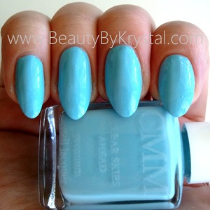 April's shade is named Clear Skies Ahead, a bright pastel blue Color Me Monthly is a nail polish subscription service, $7 a month, one polish per month. READ MORE: http://www.beautybykrystal.com/2013/04/color-me-monthly-april-clear-skies-ahead.html