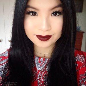 Christmas wearable makeup ft. MAC SIN lipstick x