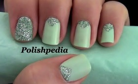 Triangle Nails With Glitter