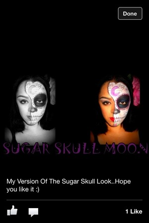 My version of the sugar skull look my first time trying it