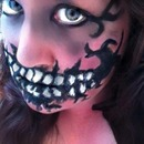 1st attemt at the teeth face paint