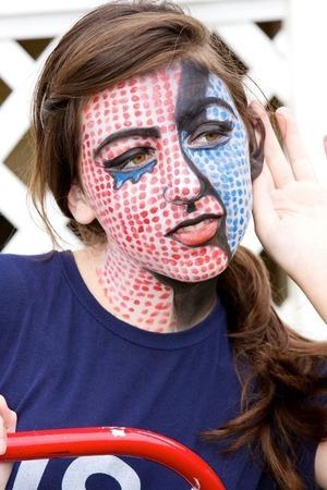 Lichtenstein inspired look
