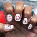Alabama - crimson tide - nail art decals