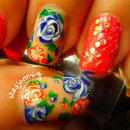 Girly Roses Nails for Spring!