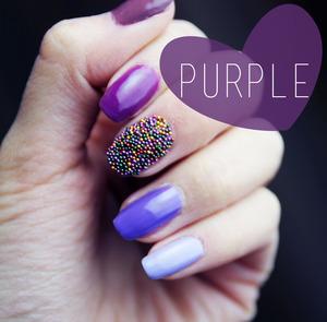 Purple nails  www.kakabeautyblog.com