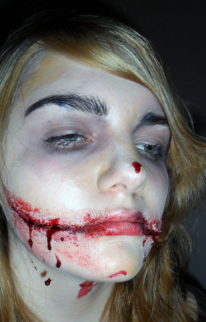Black Dahlia corpse. makeup by me on, my sister Courtney.