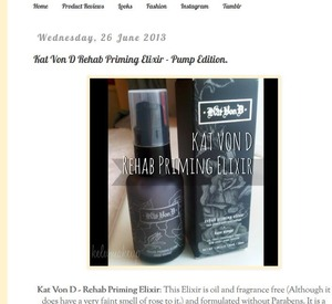 A review of the Kat Von D Elixir you can view by going onto the following link:   www.cityxofxangelsx.blogspot.co.uk