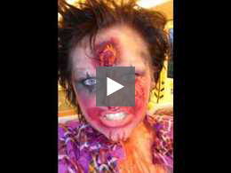Zombie Makeup Looks: No Laughing Matter: The Zombie Clown