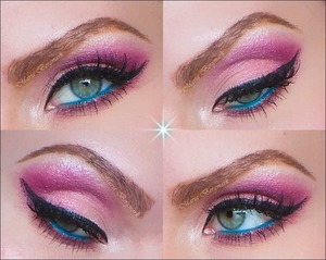 You can find out the whole product list and see the make up tutorial in my blog:  http://mariabergmark.wordpress.com/