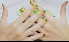 Pineapple Nails for Summer!