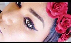 Monochromatic Fall makeup.