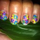 Retro Pallet - Dot Flowers