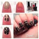 Leopard print nail art tutorial! :)
