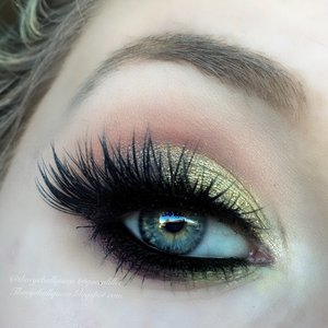 This look was inspired by my Sugarpill Burning Heart Pallet that I get absolutely no use out of, which is quite sad because it has so many purposes.  This is a toned down version of one of my previous looks.  Full details are currently up on my blog (:  http://theyeballqueen.blogspot.com/2015/12/glittery-sunset-eyes-makeup-tutorial.html.