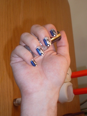 Musical Robot Nails! Colour breakdown and lots more at my blog: www.rivuletsbeauty.blogspot.com