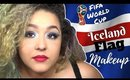 Icelandic Flag Inspired Makeup Tutorial -Fifa World Cup- (NoBlandMakeup)