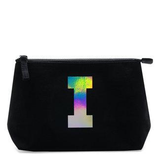 Holographic Foil Initial Makeup Bag Letter I