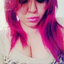 Magenta red hair