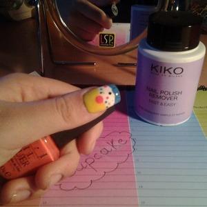 Cupcake nail art! :)