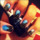 NYC inspired nail design (: