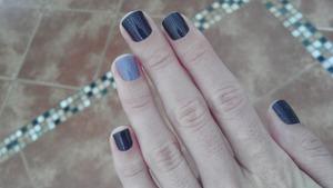 A dark and a light purple polishes...