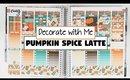 Plan/Decorate With Me | Pumpkin Spice Latte (Erin Condren Vertical)