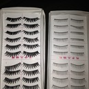 my favorite lashes are No Name lashes!!!