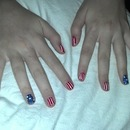 Matching Hands For Flag Inspired