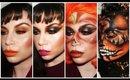 Pumpkin Make-Up 4 Ways for Hallowe'en