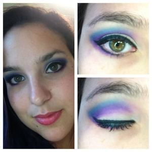 Shades Fringe and Urban, plus Archangel from the Kat Von D Esperanza palette, the Urban Decay Perversion eyeliner and the Per-fekt Lash Perfection Gel