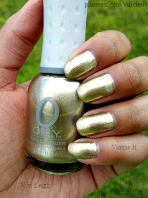 Orly Luxe is a light reflective metallic gold.