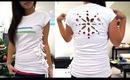 Side Scrunch & Snowflake T-Shirt Tutorial