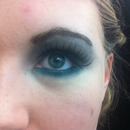 Turquoise and grey eye makeup!