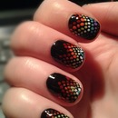 Dotted nail art :)