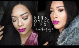 Pink Ombre' Lips + Sparkling Eyes Tutorial