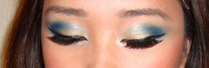 Eye makeup from my Wonder Woman makeup tutorial