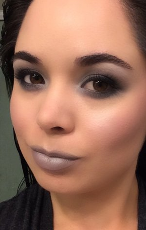 For a #MakeupMonday my friend and I decided gray was the theme. This was my look!
