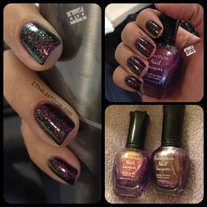 Kleancolor Purple Chunky Holo Chrome layered over Metallic Purple